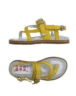 Вьетнамки MOMINO. Цвет: желтый