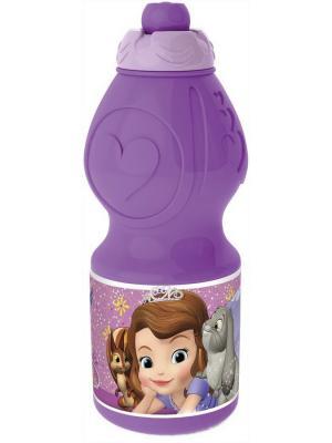 Бутылка пластиковая (спортивная, фигурная, 400 мл). Принцесса София фиолет. Stor. Цвет: фиолетовый