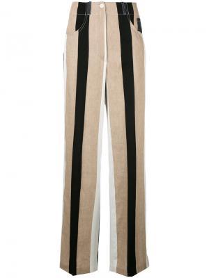 Полосатые расклешенные брюки Dondup. Цвет: многоцветный