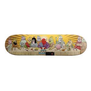 Дека для скейтборда  Last Supper Multi 31.5 x 8.0 (20.3 см) Toy Machine. Цвет: мультиколор
