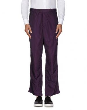 Повседневные брюки N4. Цвет: розовато-лиловый