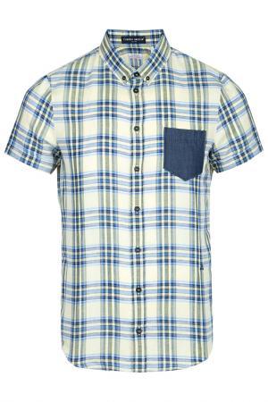 Рубашка Frankie Morello. Цвет: желтый