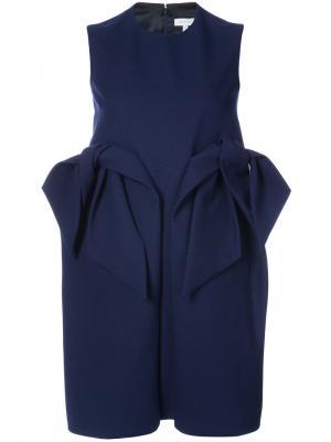 Платье миди с оборкой Delpozo. Цвет: синий