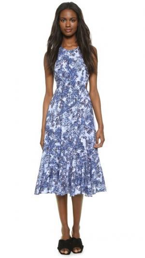 Платье Emilie Timo Weiland. Цвет: синие вишневые цветы