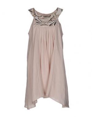 Короткое платье NAUGHTY DOG. Цвет: светло-розовый
