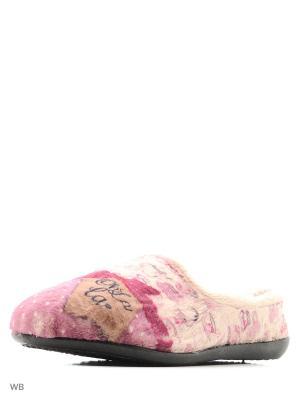 Тапочки BOISSY. Цвет: розовый