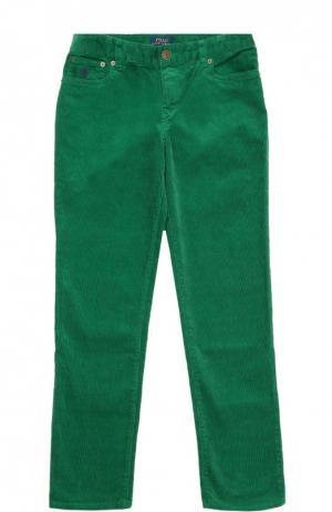 Брюки из эластичного хлопка Polo Ralph Lauren. Цвет: зеленый