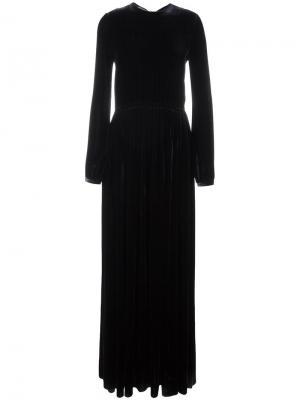 Платье с длинными рукавами Rochas. Цвет: синий