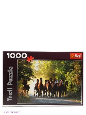 Пазл Табун лошадей Trefl. Цвет: коричневый