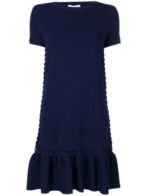 Платье-футболка Jonathan Simkhai. Цвет: синий