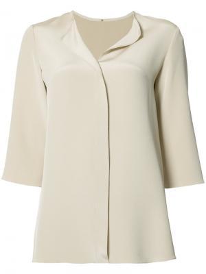 Блузка  с укороченными рукавами Peter Cohen. Цвет: телесный