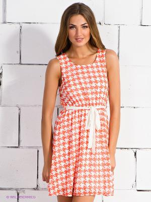 Платье Ya Los Angeles. Цвет: коралловый, молочный