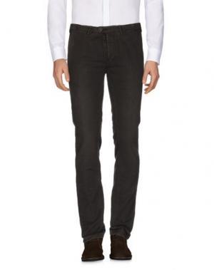Повседневные брюки JFOUR. Цвет: темно-коричневый