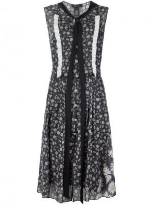 Платье с цветочным принтом Marc Jacobs. Цвет: многоцветный