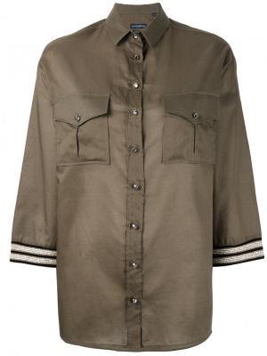 Рубашка с вышивкой Ballantyne. Цвет: зелёный