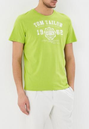 Футболка Tom Tailor. Цвет: зеленый