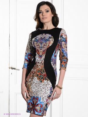 Платье MELANY. Цвет: красный, белый, черный, голубой