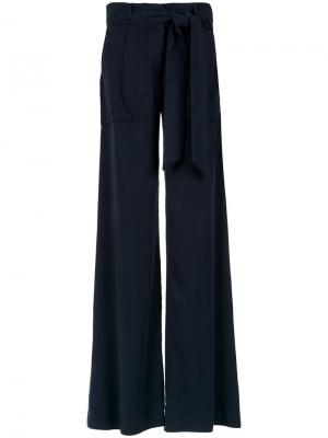 Flared trousers Giuliana Romanno. Цвет: синий