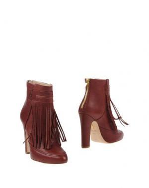 Полусапоги и высокие ботинки MAIYET. Цвет: красно-коричневый