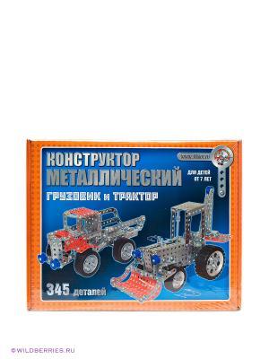 Конструктор Грузовик и трактор Десятое королевство. Цвет: голубой