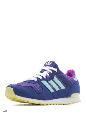 Кроссовки дет. спорт. ZX 700 J Adidas. Цвет: темно-синий, бирюзовый, фиолетовый