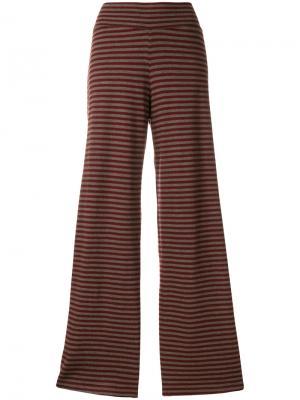 Расклешенные брюки в полоску Labo Art. Цвет: красный