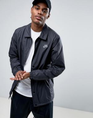 Nike SB Черная спортивная куртка 829509-010. Цвет: черный