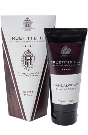 Крем для бритья в тюбике Sandalwood Truefitt&Hill. Цвет: бесцветный