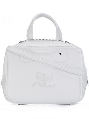 Маленькая сумка через плечо Courrèges. Цвет: белый