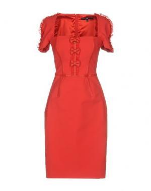 Платье до колена ELISABETTA FRANCHI 24 ORE. Цвет: красный