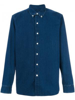 Джинсовая рубашка с длинными рукавами Levis Levi's. Цвет: синий