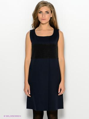 Платье GANT. Цвет: темно-синий