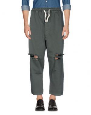 Повседневные брюки ONE. Цвет: зеленый-милитари