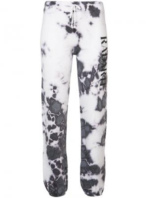Спортивные брюки с размытым принтом Rodarte. Цвет: розовый и фиолетовый