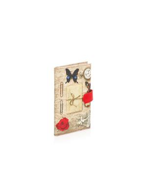 Большая визитница Платьице с бабочкой Eshemoda. Цвет: серый