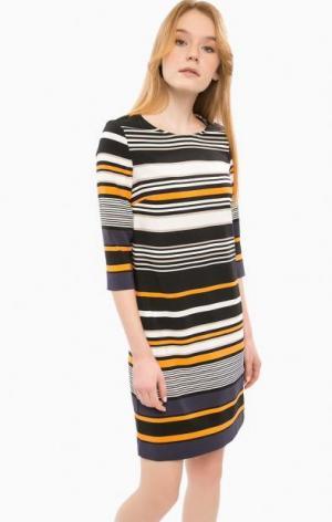 Платье в полоску с рукавами 3/4 Cinque. Цвет: полоска