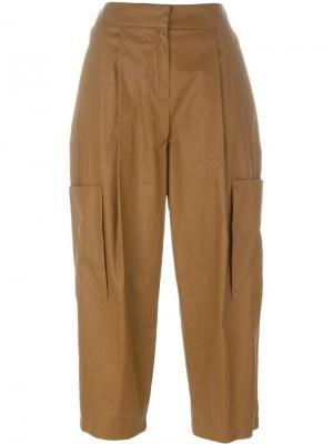 Укороченные брюки Erika Cavallini. Цвет: телесный