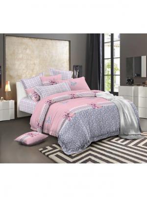 Комплект постельного белья 2 спальный Ля Мур. Цвет: розовый