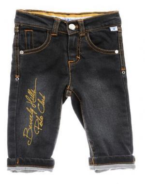 Джинсовые брюки BEVERLY HILLS POLO CLUB. Цвет: черный