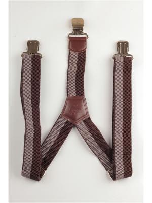 Подтяжки джинсовые INDIVIDUUM. Цвет: коричневый