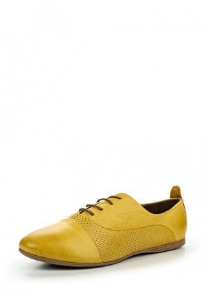 Ботинки D.Moro. Цвет: желтый
