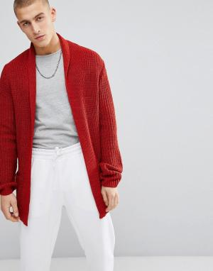 ASOS Красно-бурый кардиган Ultimate. Цвет: оранжевый