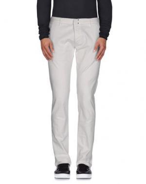 Джинсовые брюки MESSAGERIE. Цвет: слоновая кость