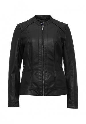 Куртка кожаная Wallis. Цвет: черный