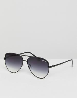Quay Australia Солнцезащитные очки-авиаторы с затемненными стеклами X. Цвет: черный