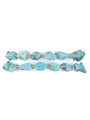 Браслеты La Mer Collections Natural Turquoise Bracelet. Цвет: бирюзовый