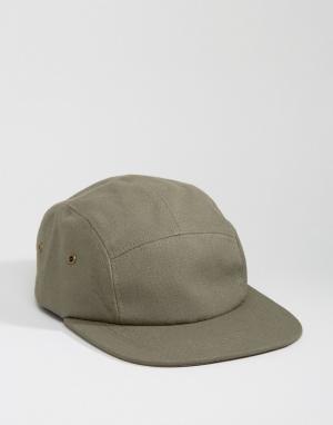 7X 5-панельная кепка. Цвет: зеленый