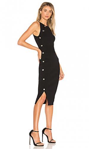Платье миди gina Ronny Kobo. Цвет: черный