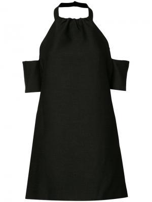 Короткое платье с открытыми плечами C/Meo. Цвет: чёрный