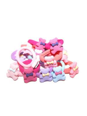 Резиночки, 16 шт Lola. Цвет: розовый,голубой,фиолетовый